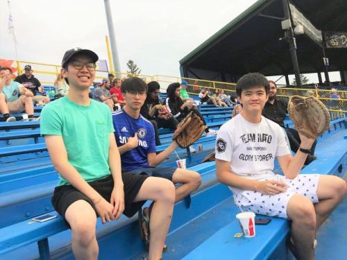 CIEP Students at a baseball game