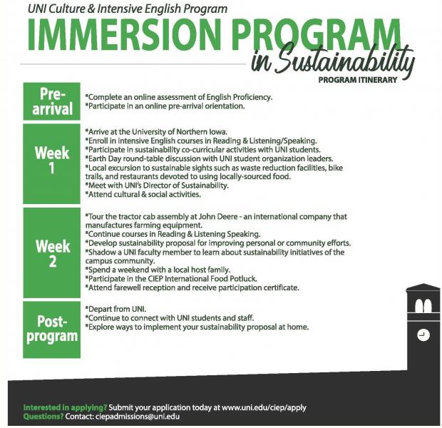 Sustainability program (click for readable pdf)